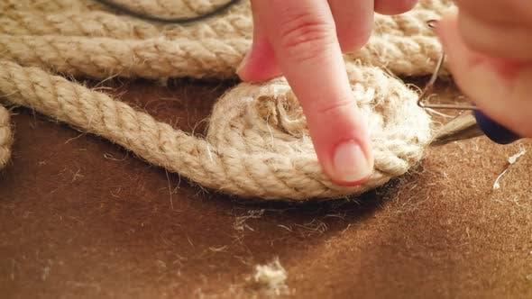 Handgemachtes Seil