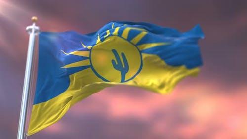Mesa City Flag, United States