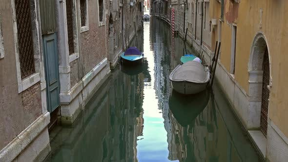 Thumbnail for Old Houses and Narrow Canal in Venice, Italy,
