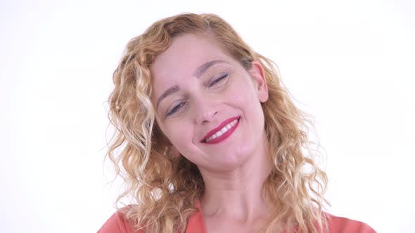 Thumbnail for Face of Happy Beautiful Blonde Businesswoman Smiling