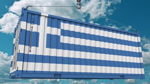 Thumbnail for Container with Flag of Greece