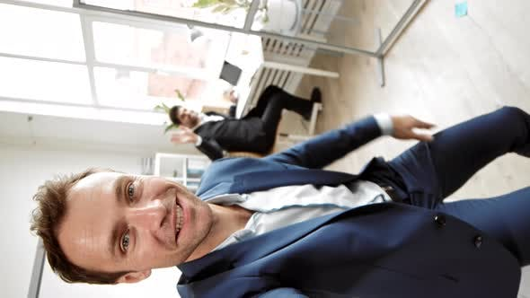 Office Worker Video Blogging