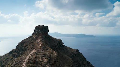 Skaros Rock in Santorini