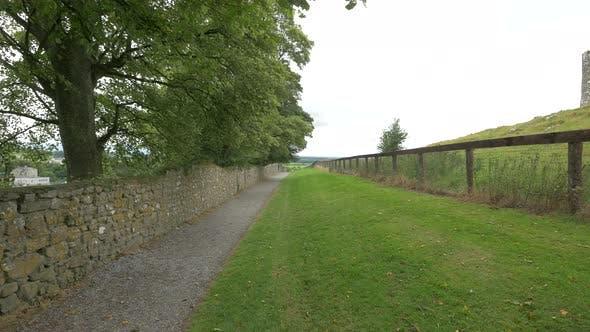 Alley inside a walled plateau