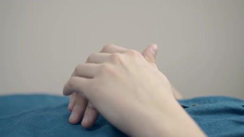 Beauty Salon Visitor Nice Hands During Procedure Closeup