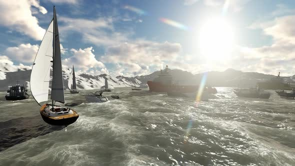 Thumbnail for Island with rocky mountains and sailboats during the day