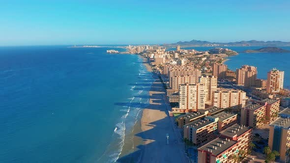 Thumbnail for Aerial View. La Manga Peninsula Spain, Cartagena, Murcia