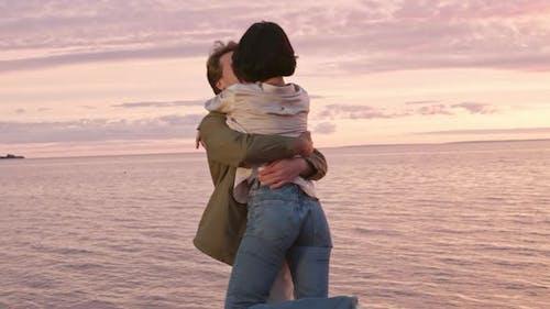 Romantic Date on Sea Coast