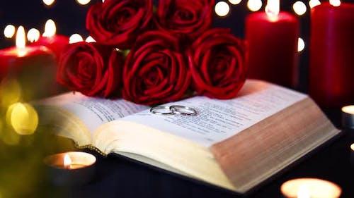 Wedding Ring On Bible