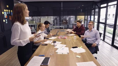 Woman Team Leader Solving Ideas