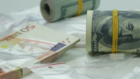 Dirty Money from the Sale of Cocaine and Tablets