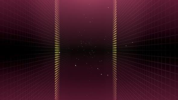 Thumbnail for Grid Tunnel Light Retro 03 HD