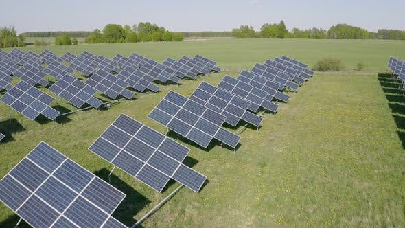Cover Image for Solar Battery Field Generating Electricity