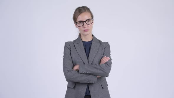 Thumbnail for Young Stressed Businesswoman Looking Angry with Arms Crossed