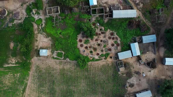 Thumbnail for Africa Mali Village And People Aerial View 11