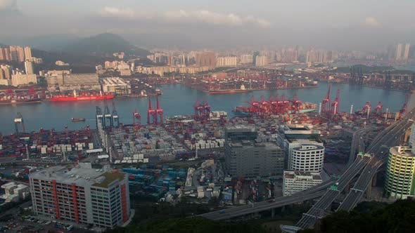 Thumbnail for Containers Port Skyview  Hong Kong