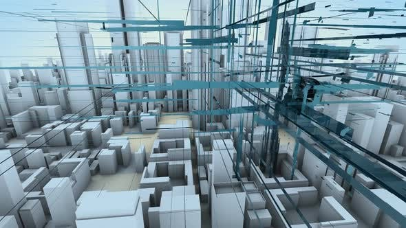 Brand building conceptual motion background