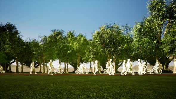 Thumbnail for 3D People in Nature - City Park