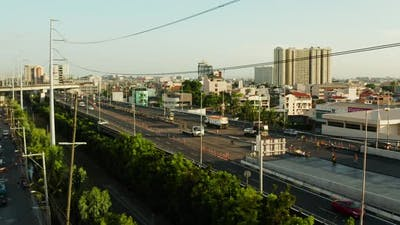 Highway in Manila, Philippines