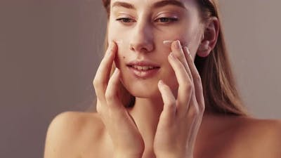 Beautiful Woman Soft Skin Care Smooth Cosmetic