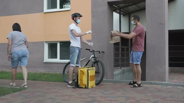 Thumbnail for Courier Delivery of Food by Bicycle During an Outbreak of the Virus