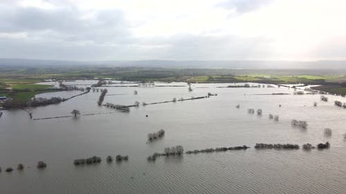 Flooding in the UK Showing Large Areas of the Countryside Flooded in the Winter