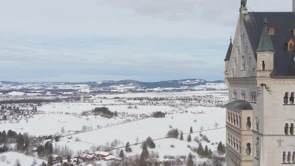 Thumbnail for Schloss Neuschwanstein am Wintertag. Bayerische Alpen, Deutschland