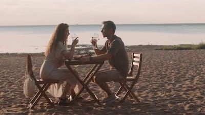 Romantic Dinner by Seashore