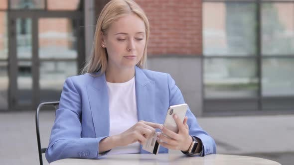 Thumbnail for Online Shopping Failure for Young Businesswoman on Smartphone