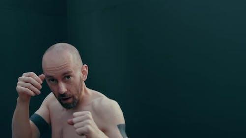POV of Conceptual Muay Thai Boxer Fight Camera
