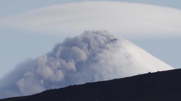 Thumbnail for View of Top of Explosive-effusive Eruption of Klyuchevskoy Volcano (Klyuchevskaya Sopka) on Sunny