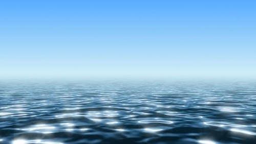 Endless Ocean Under Clean Blue Sky