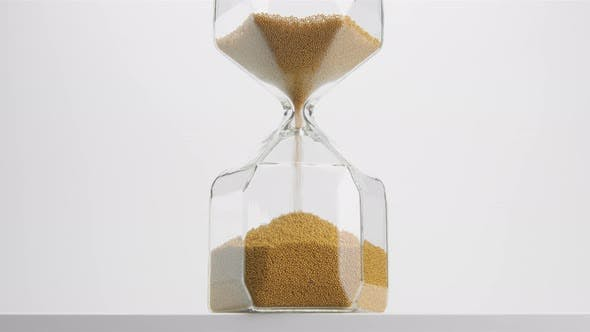 Thumbnail for Closeup of a Sand Clock in Studio. Minimalistic Video About Time Concept
