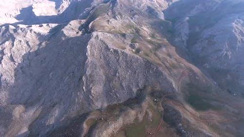 High Altitude Mountain Lake Topography
