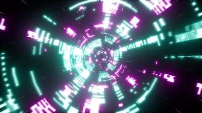 Cyberpunk Scifi Tunnel 4K 06