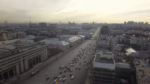 Dull Moscow Cityscape, Russia