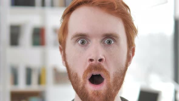 Thumbnail for Shocked Face of Casual Redhead Man