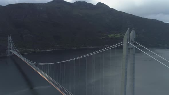 Thumbnail for Hardanger Bridge Across the Eidfjorden in Norway in Summer Day