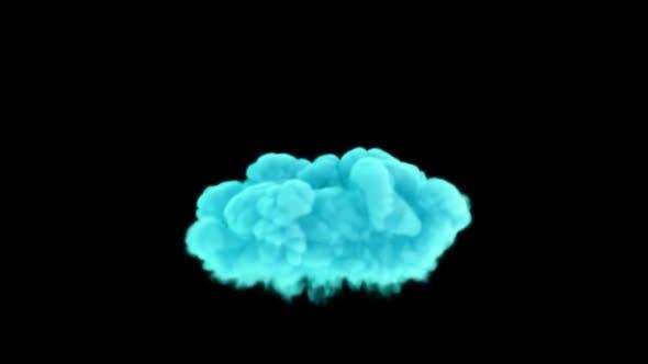 Thumbnail for Soft Aqua Color Smoke Blast 4K