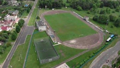Football soccer field