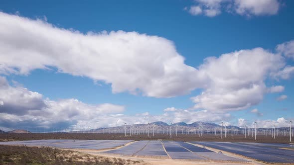 Thumbnail for Solar And Wind Power Station In The Desert