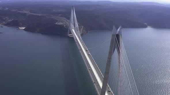 Thumbnail for Istanbul Yavuz Sultan Selim Bridge Aerial View 7
