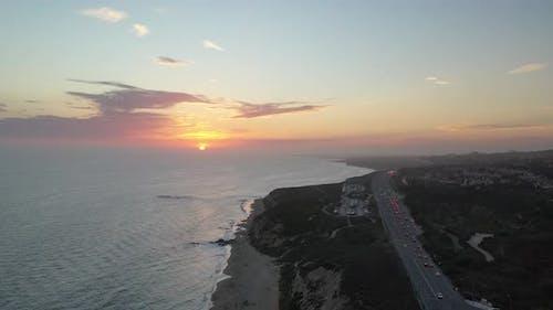 Parallax Ariel Sunset