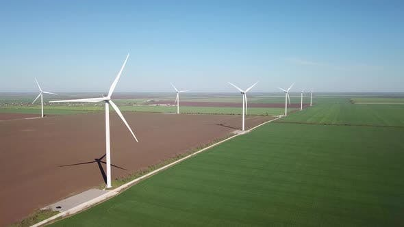 Thumbnail for Wind power station on the field. Concept and idea of alternative energy development