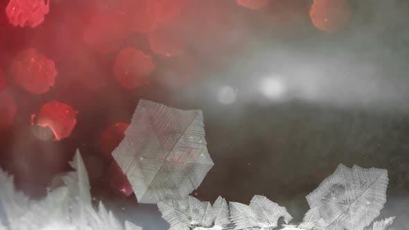 Freezing Snow Pattern , Winter Holidays Background,
