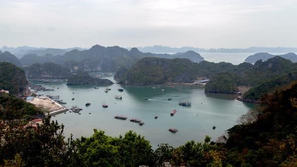 Landscape of Cat Ba Island, Ha Long Bay, Vietnam