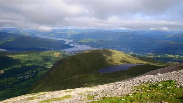 Scottish Highlands and a Lake