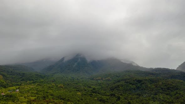 Mountains in Cloudy Weather Timelapse