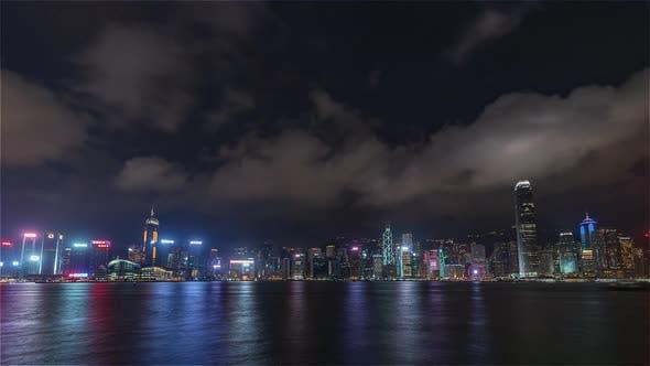 Thumbnail for Hong Kong, China | Wide angle view of the Skyline at night