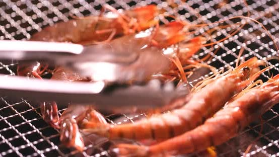Thumbnail for Delicious Prawn on The Grill, Bbq Shrimp